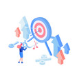target advertising isometric vector image