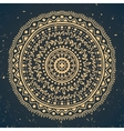 Vintage ornament on dark blue background vector image