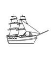 Vintage sailing ship travel adventure nautical