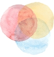 Watercolor circle Watercolor hand painted circle vector image vector image