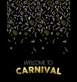 Welcome to carnival gold party template design