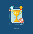 winners award with icons flat vector image vector image