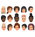 woman realistic detailed avatar set vector image