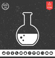 test-tube with bubbles symbol icon vector image
