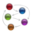 Business Diagram Management Strategy Buttons vector image