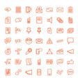 49 message icons vector image vector image
