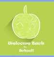 apple shape with school stuff inside vector image