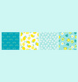 artistic set seamless patterns with abstract vector image