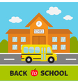 Back to school Building with clock and windows vector image vector image