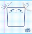 bathroom scales line sketch icon isolated on white vector image vector image