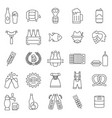 beer oktoberfest icon set in thin line style vector image vector image