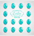 big set of easter eggs vector image