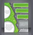 brochure design vector image vector image