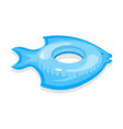 cartoon color swimming ring fish toy on a white vector image