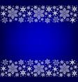 christmas snowflakes borders vector image vector image