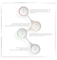 Circle process template infographic Business vector image vector image
