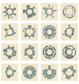 Collection of different graphic elements vector image vector image