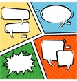 Comics Speech Bubbles Set vector image vector image