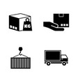 commercial logistics simple related icons vector image