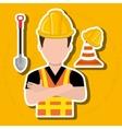 construction worker design vector image vector image