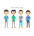 Diverse People Set Men Different poses Flat vector image