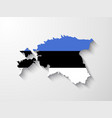 estonia map with shadow effect vector image vector image