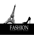 Fashion with Paris in the background vector image