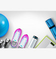 fitness background realistic composition vector image