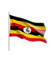Flag of uganda african state vector image