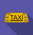 Flat design taxi icon with long shadow vector image