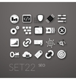 flat icons set 22 vector image