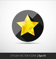 Flat polygonal star icon vector image