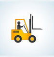 forklift truck with no load vector image