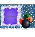 Frame Happy new yearand bowling ball vector image