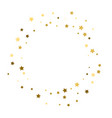 frame of gold confetti golden stars vector image