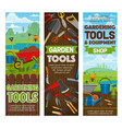 gardening tools and farmer equipment vector image