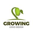 growing seed logo design vector image
