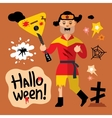 Halloween Zombie Cartoon vector image