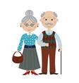 happy cartoon grandparents vector image vector image