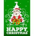 Happy Christmas card with santa vector image