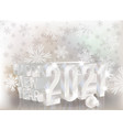happy new 2021 year 3d invitation card vector image vector image