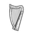 harp sketch vector image