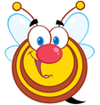 Honey Bee Cartoon Mascot Character vector image vector image