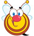 Honey Bee Cartoon Mascot Character vector image