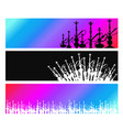 hookah banners set vector image vector image