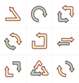 Icons Style Simple flat design recycle symbols in vector image