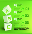 infographic business cubes template vector image vector image