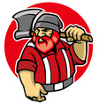 Lumberjack mascot vector image