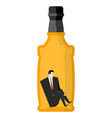 man drinker inside bottles businessman sitting in vector image vector image