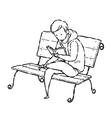 man reading on chair vector image